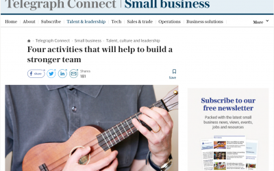 THE TELEGRAPH: Four activities that will help to build a stronger team