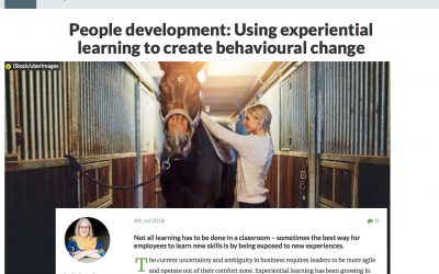 TRAINING ZONE: Using experiential learning to create behavioural change
